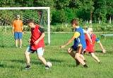 Игра в футбол  в Райском уголке